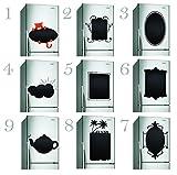 """40 x 40 cm), in vinile, motivo: lavagna a forma di etichette da frigorifero/lavagna adesiva impermeabile pastelli disegni Notes Memo Lavagna adesiva, per frigoriferi """""""