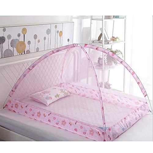 YZW Faltbare Baby Moskitonetz,Safe Gemütlich Portable Dome Cover Für Einfach Zu Bedienen-a Free Size - Cover Mesh Reisebett