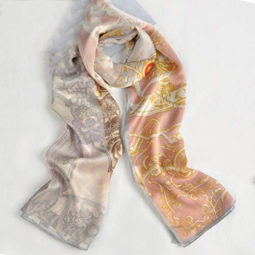 serviette de plage Lady Fine Silk Mulberry Écharpe solaire écharpe Foulard écharpe sauvage ( Couleur : #5 ) #12