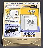 Hydro Stopper Wasserschutz, automatischer Wasserstop für Waschmaschinen, Geschirrspüler, Filter und Umkehrosmose Geräte - schließt die Wasserzufuhr sobald Wasser überläuft bzw. aus Schlauch ausläuft, mit Sensor und Magnet Schließventil