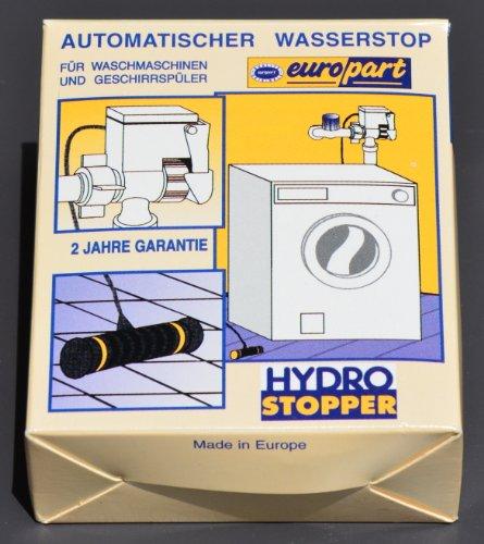 Preisvergleich Produktbild Hydro Stopper Wasserschutz, automatischer Wasserstop für Waschmaschinen, Geschirrspüler, Filter und Umkehrosmose Geräte - schließt die Wasserzufuhr sobald Wasser überläuft bzw. aus Schlauch ausläuft, mit Sensor und Magnet Schließventil