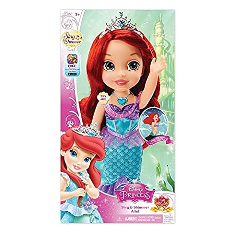 Disney Princess Sing and Shimmer Toddler Doll - Ariel by Tolly Tots