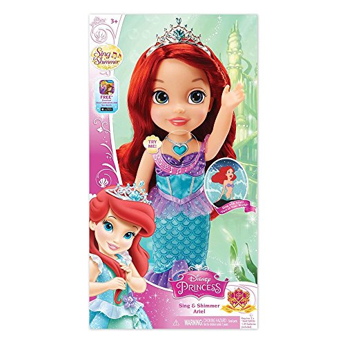 Disney Princess Sing and Shimmer Toddler Doll - Ariel by Tolly Tots -