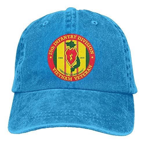 WefyL 25th Infantry Division Vietnam Veteran Adjustable Baseball Caps Denim Hats Cowboy Sport Outdoor (25th Infantry Division Vietnam)
