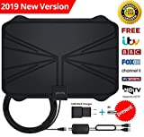 【Updated 2019 Version】 Professional TV Antenna-Indoor Digital HDTV Antennas Amplified 60-100 Mile Range