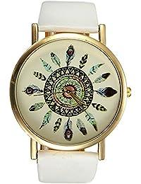 Women Quartz Watch - GENEVA Women Quartz Watch Leather spring Watch for Women Dress Quartz Watch(white)