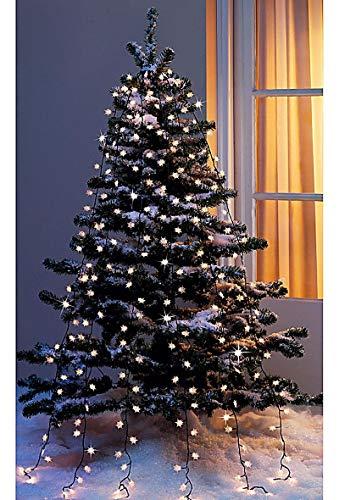 Lichterkette Baumbeleuchtung Schneeflocken für Außen und Innen 192 Minilichter ,8 unterschiedliche Lichteffekte Lichternetz für Büsche Bäume Tannenbaum Beleuchtung 6 Leuchtstränge