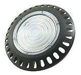 Faro LED 200 Watt, Luce Fredda Industriale Capannoni Ufo Disco Rotondo Slim