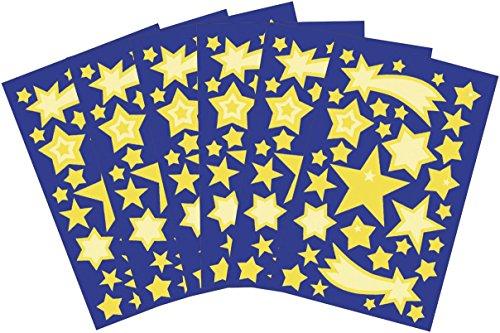 AVERY Zweckform 58219 Leucht Sticker Set für Sternenhimmel (Vorteils-Pack) 192 Wand Aufkleber