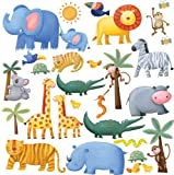 RoomMates RMK1136SCS Jungle Adventure Wall Decals - Best Reviews Guide