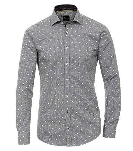 Venti - Slim Fit - Herren Langarm Hemd in verschiedenen Varianten Grau (162425500 / 750)