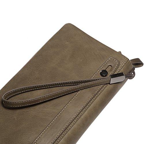 teemzone Borsa da palestra marrone XL Braun mit Trageriemen cachi XL con cinturino da polso