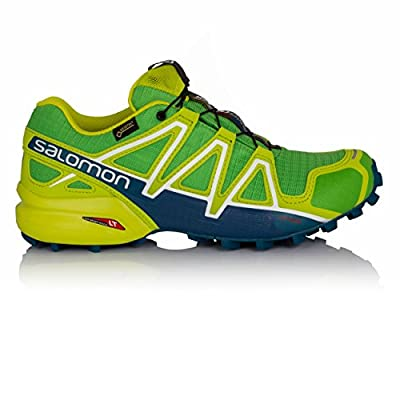 Salomon Men's SPEEDCROSS 4 GTX Trail Running Shoe, Black, Synthetic/Textile