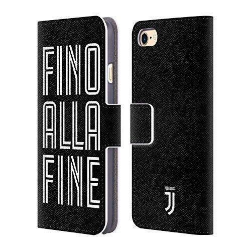 Head Case Designs Ufficiale Juventus Football Club Fino alla Fine Nero Tipo Cover a Portafoglio in Pelle per iPhone 7 / iPhone 8