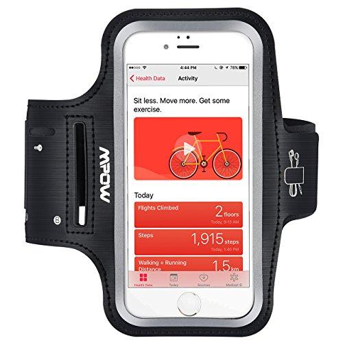 Mpow Fascia Braccio Fascia Sportiva da Braccio con Auricolari e Key Holder per iPhone/Android