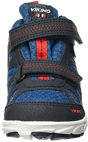Viking Ludo Mid, Baskets Basses Mixte Enfant Bleu - Blau (Navy/Petrol 555)