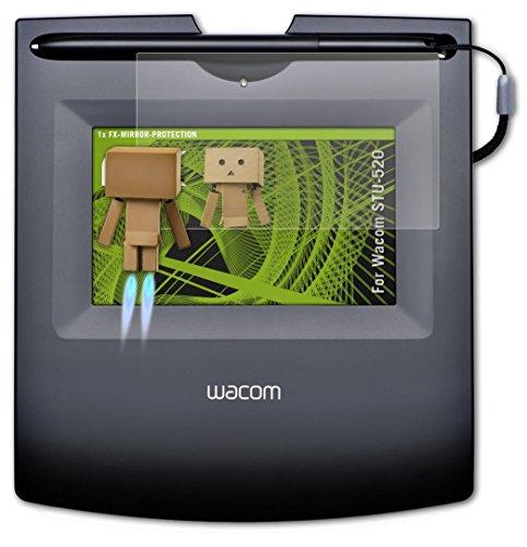 Wacom STU-520 Spiegelfolie - atFoliX FX-Mirror Displayschutz Folie mit Spiegeleffekt