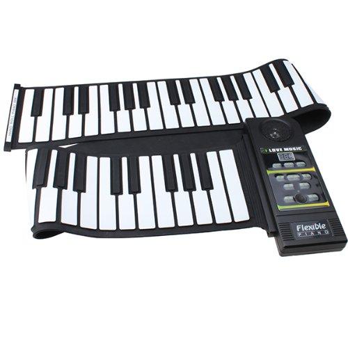 AGPtek tragbar und Mini 88Tasten Roll Up Piano Flexible Roll Up Elektronisches Keyboard mit lauter Lautsprecher