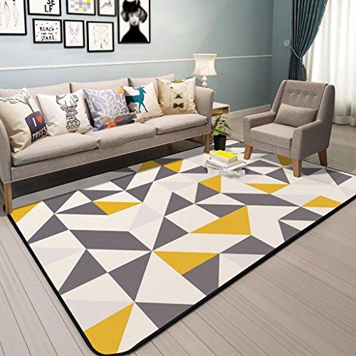 MEHE@ Alfombra moderna de lujo del diseñador Sala geométrica nórdica de la sala Cama rectangular del dormitorio Alfombrillas Felpudos Alfombras ( Tamaño : 120*180cm )