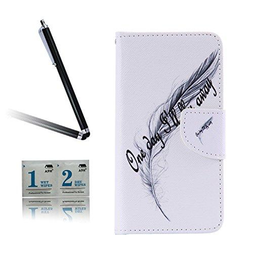 ARTLU® BQ Aquarius M5.0 Taschen Schalen PU Leder Tasche Schutzhülle Hülle Handy Etui Schale mit Ständerfunktion und Kreditkartenfächer für BQ Aquaris M5 (5.0 inches)A07