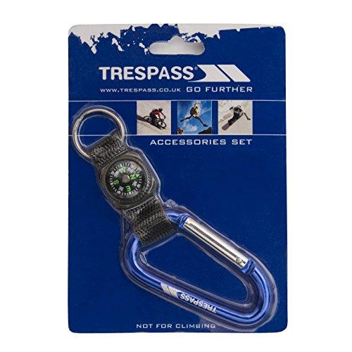 Trespass Navigate 8mm Karabinerhaken-Schlüsselanhänger mit Riemen und Kompass (Einheitsgröße) (Blau)
