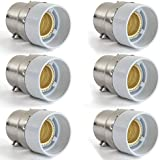 AWE-LIGHT Lot de 6 B22 vers E14 Adaptateur de Douille , Ampoule LED Base Douille B22 à E14 - Normes CE RoHS