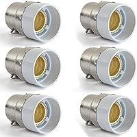 AWE-LIGHT B22 a E14 della lampada LED Base adattatore lampadina convertitore, confezione da 6