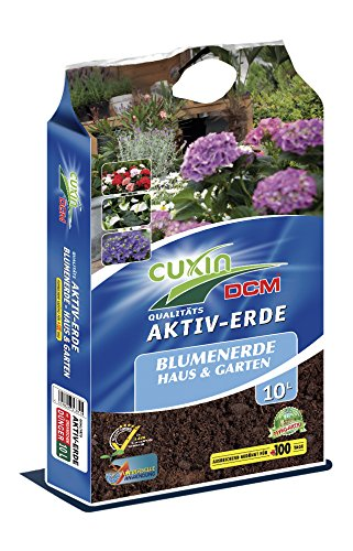 Cuxin Blumenerde für Haus und Garten 10-80 L ● Pflanzerde mit 100 Tage organischen Dünger (10 L)