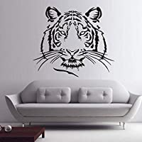 Tiger Head Wall Stickers Wild Animal Home Decor Removable Wall Decals Art Mural Vinyl Adhesive Wallpaper for Living 68 * 58M