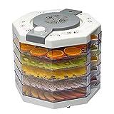 Máquina de conservación de alimentos eléctrica multi-función profesional de 5 capas, carne con temperatura controlada 95-158℉, máquina de carne seca, fruta, vainilla y secadora de verduras