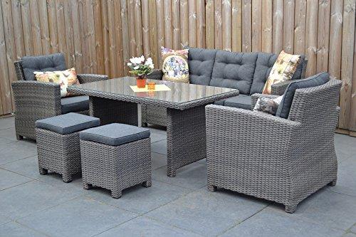 Di alta qualità da tavolo in grigio mobili da giardino in