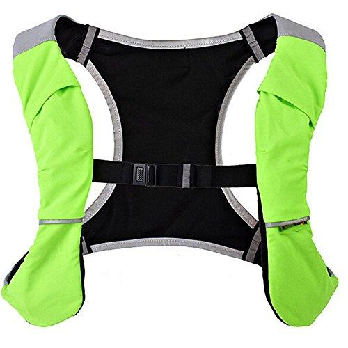 Multifunktionale Outdoor Laufsport Weste Tasche Rucksack Reiten Grün