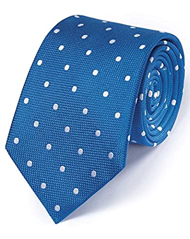 Royal and White Silk Classic Spot Tie by Charles