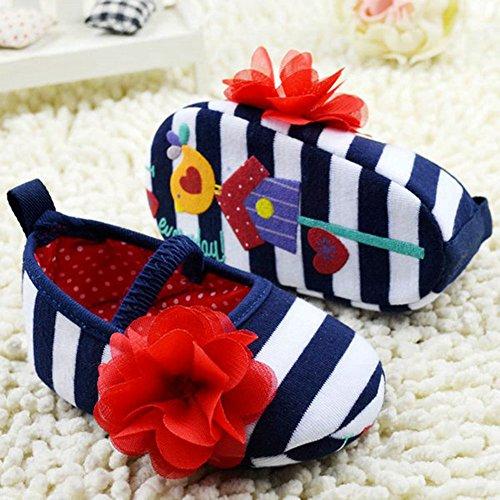 Etosell Filles Tricote Coton Raye De Chaussures Blanc