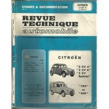 Etudes & Documentation de la revue technique automobile Citroën 2CV4, 2CV6, 2CV spécial et fourgonnette 250 et 400 (1979)