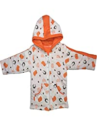 BRIM HUGS & CUDDLES Baby Girl's and Boy's Cotton Winter Jackets with Hood and Zipper - Pack of 1