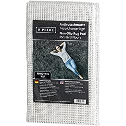 B.PRIME 150x210cm Antidérapant et Protection pour Tapis Universal I sous-Tapis I Découpable aux Ciseaux
