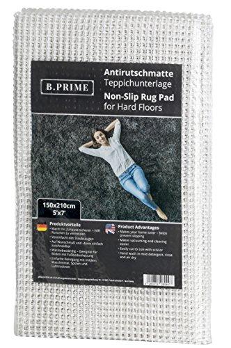 B.PRIME 150x210cm Antirutschmatte Universal I Teppichunterlage I Teppichunterleger I Teppichunterlage I Rutschschutz für Teppich