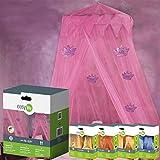 Easy Life Moskitonetz Princess 12x2,5m mit Baldachin in pink mit Kronen