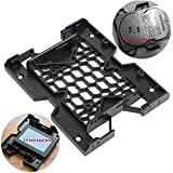 """AST Works 5.25"""" To 3.5"""" 2.5"""" SSD Hard Drive Bay Tray Cooling PC 12CM Fan Mounting Bracket`"""
