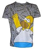UWEAR Mens WOOHOO T-Shirt Homer Simpson (LARGE)