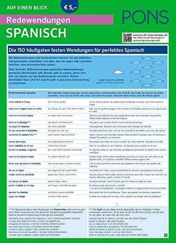 PONS Redewendungen auf einen Blick Spanisch: Die 150 wichtigsten Redewendungen mit Übersetzung und Beispielen für authentisches Spanisch (PONS Auf einen Blick)