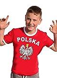 Polen T-Shirt Kinder Ringer rot, 164