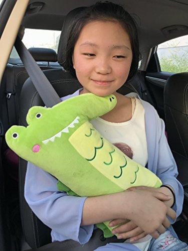 Cute Pl�sch Krokodil Auto Sicherheit Sicherheitsgurt Pad, Auto-Sicherheitsgurt Schulterpolster Spielzeug f�r Kinder oder Erwachsene, gem�tliche Reisekissen