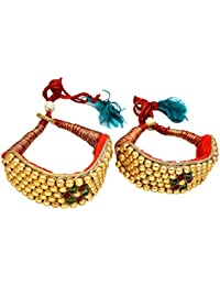 Geode Delight Multicolour Gold-Plated Bajubandh for Women