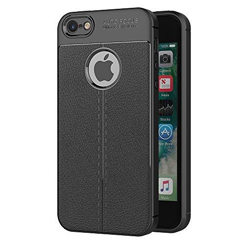 Cover iPhone SE / iPhone 5S, AICEK Nero Custodia iPhone SE Silicone Molle Black Cover per iPhone SE Soft TPU Case (4,0 Pollici)
