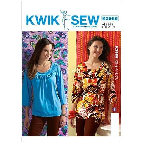 KWIK - SEW MODELLI Top e formato della cinghia Extra-Small K3986 Misses