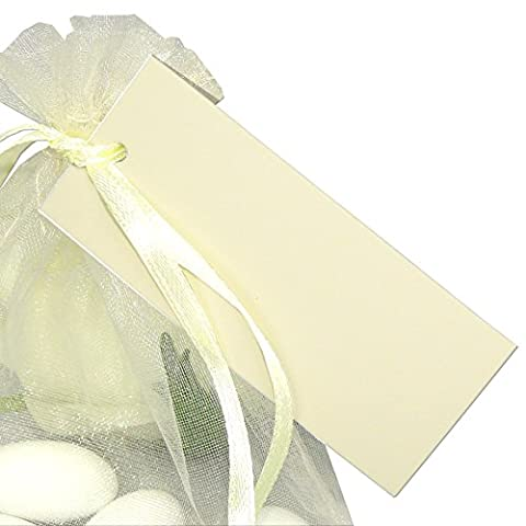 50x Geschenkanhänger Basic creme EinsSein® Geschenkkärtchen Tischkarten Hochzeit Party
