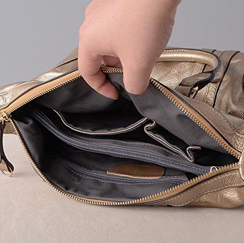 Donne Stile Nuovo PU borsa A Guscio Moda Grande Capacità Personalità Borsa A Tracolla Borsa Borsa A Tracolla Inclinata Silver