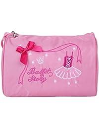 e0b4bd78ae TiaoBug Kids Girls Embroidered Shoulder Bag Dance Ballet Swim Tote Bag